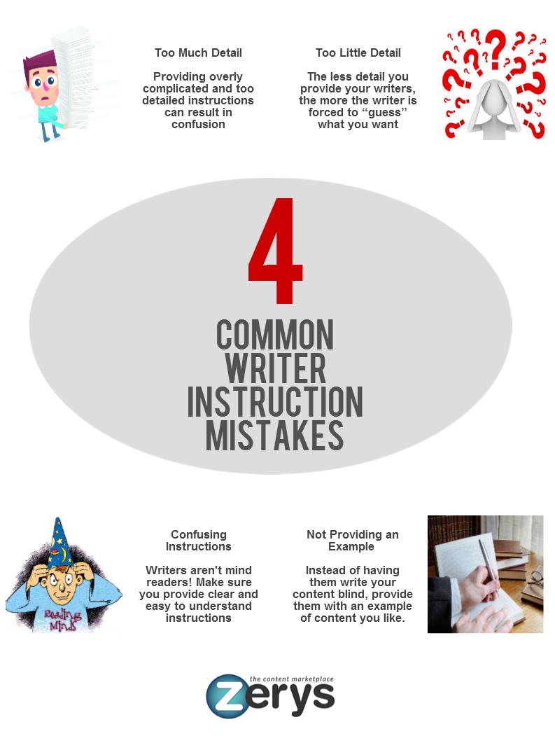4 Writer Instruction Mistakes