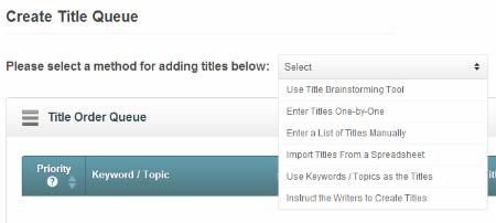create titles