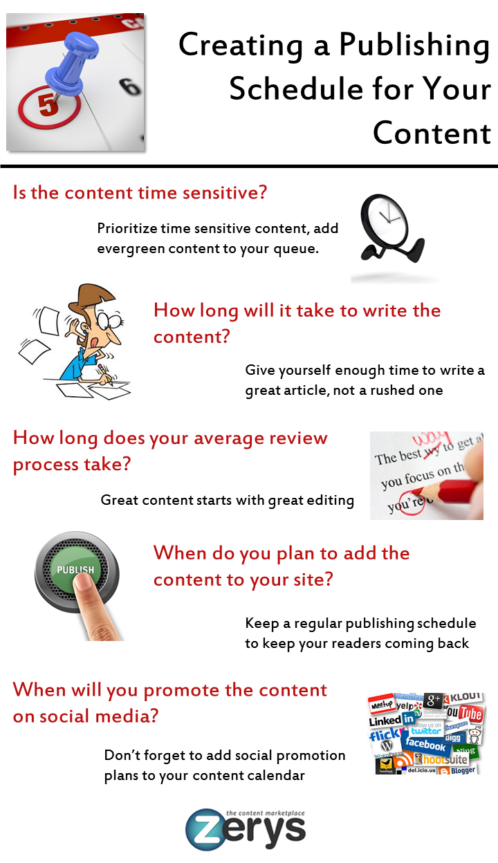 Creating a Publishing Schedule
