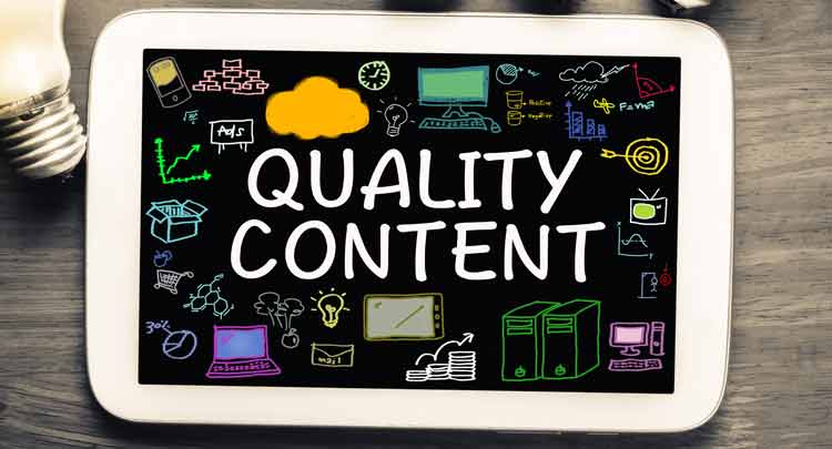 web content - website content - content marketing - quality content