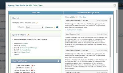 Quickly Create Client Profiles