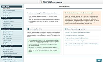 Interactive Content Strategy Guide and Planner