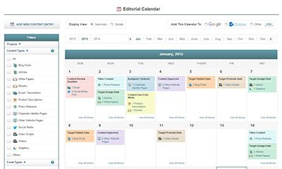 Integrated Editorial Calendar and Email Reminder System